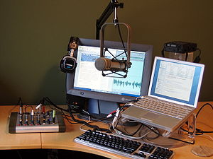 Here's an updated photo of the home podcasting...