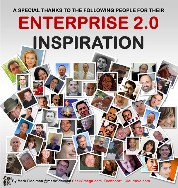 A Special Thank You to the Following Enterprise 2.0 Evangelists for your Inspiration (infographic)