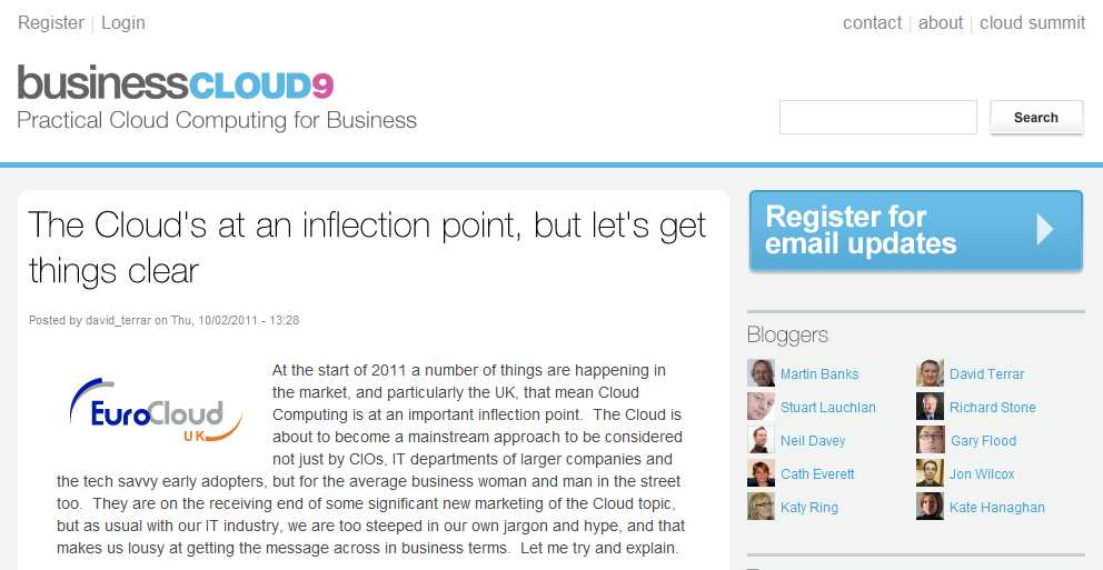 Cloud is at an inflection point, but let's get things clear