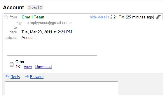 New Gmail Scam making the rounds