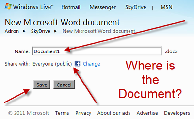 Windows Live Microsoft Word Document UX vs. Google Docs UX