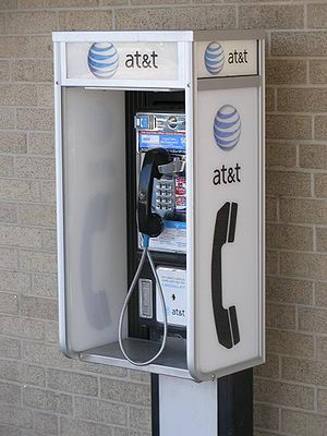 Southwestern Bell payphone with new AT&T signage
