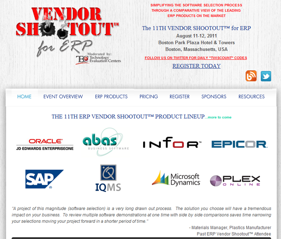 erp vendorr shootout