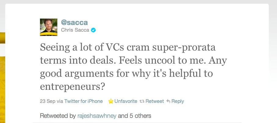 Why Super Pro-rata Rights are Not a Good Deal for Entrepreneurs