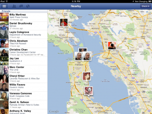Facebook friends mapping function Apple IPAD
