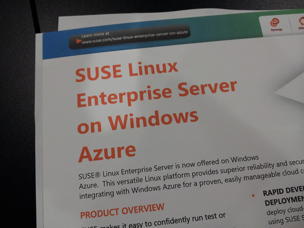 SUSE offered on Microsoft's Windows Azure