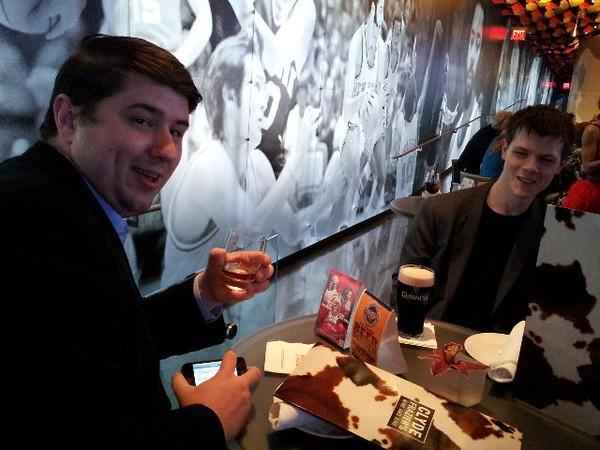 @brianmmcclain & @markkropf enjoying a round of drinks!