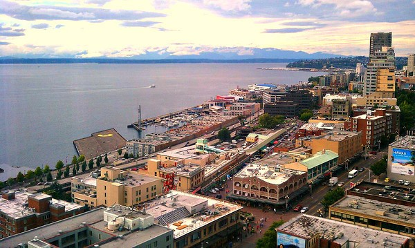 View from Russell Investments Seattle Headquarters, stunning!