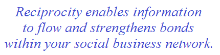 social business network reciprocity