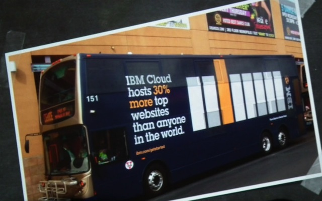 IBM bus signs aws reinvent