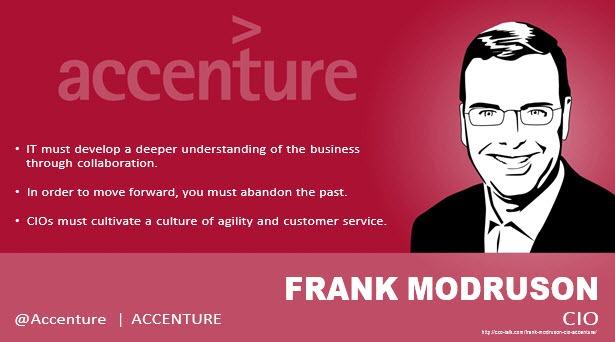 Frank Modruson, CIO, Accenture