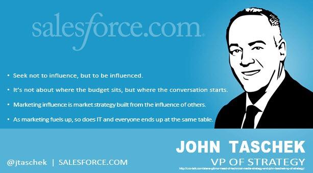John Taschek SVP of Strategy salesforce.com