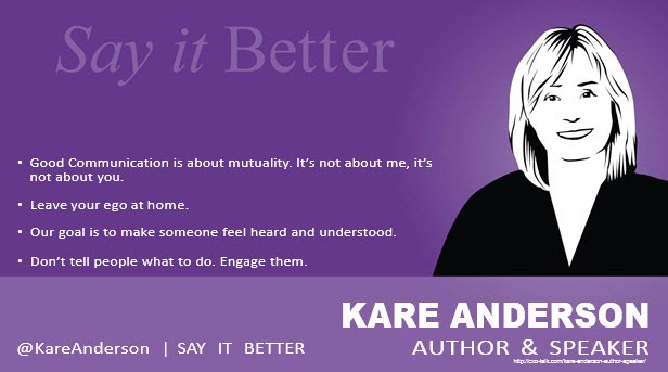 Kare Anderson, author and speaker