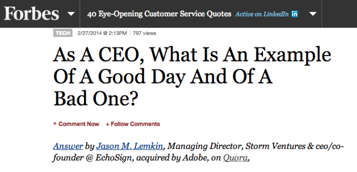 5 Very Good Days, and 5 Pretty Bad Days, as a SaaS CEO
