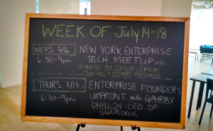 SaaStr Hits The Big Apple:  Keynote at Enterprise Tech Meetup this Wednesday, Office Hours, Work-Bench, More