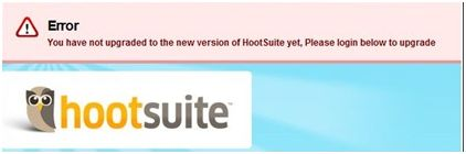 Fake HootSuite Error Turns into Forced Twitter Marketing
