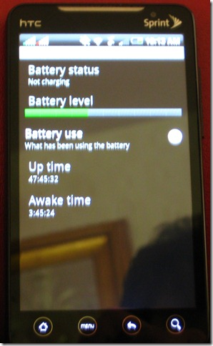 Update on the Sprint HTC EVO Battery Debate: Not Bad, Really. See Yourself.