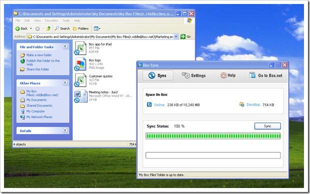 Box Sync - Desktop UI