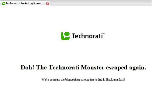 Technorati Monster a Casualty of Layoffs?
