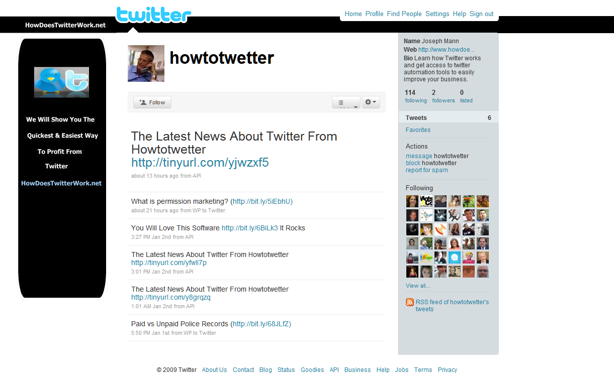 Twitter Marketing Hell: New Site by Steven Hodson