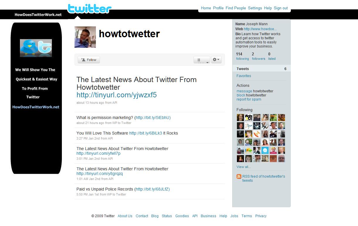 Twitter Marketing Hell: New Site by Steven Hodson
