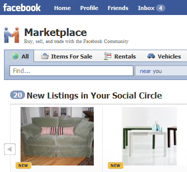 Welcome to the Facebook Market Place
