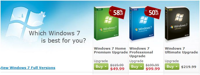 Your Ransom to Break Free of Vista: $50 Win7 Upgrade – Catch it While You Can