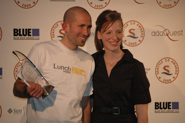 Picture of Josh Mayher and Danielle Morrill at Seattle 2.0 awards