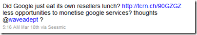 Google and Resellers? – How Happy is the Relationship?