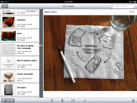 iPad Evernote