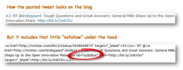 Blogging Those Tweets? Get Rid of the Nofollows