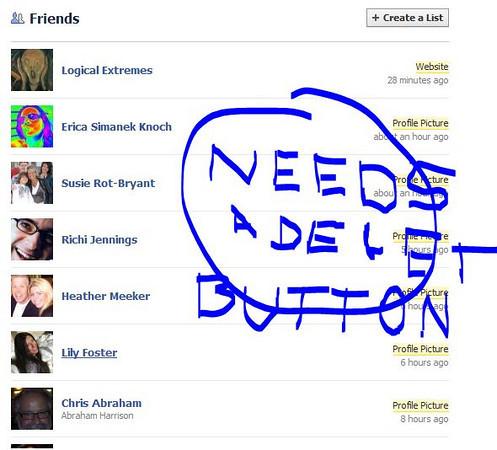 Facebook needs a better way to unfriend people