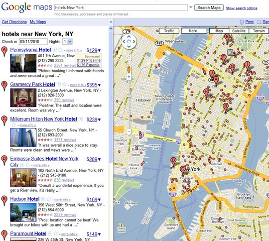 Google Maps Experiment with Hotel Prices – Just Remember to Check In