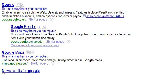 Google Advises Against Visiting their Own Pages