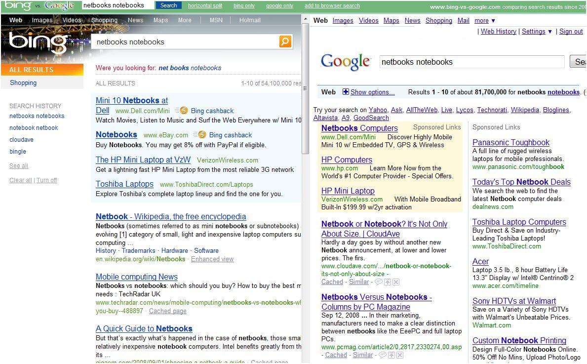 Bing – Google Mashups in Abundance