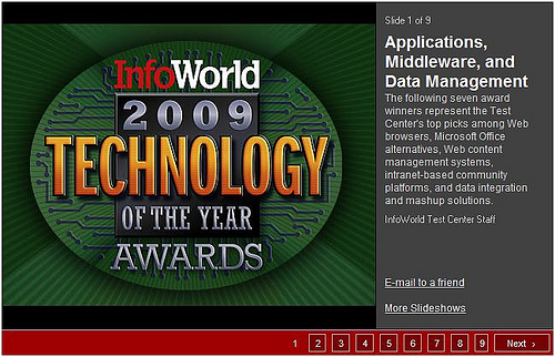 The InfoWorld 2009 Technology of the Year Awards