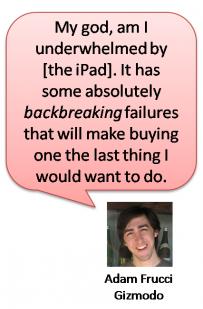 Apple iPad and Google Buzz: Harsh Reality of Innovation