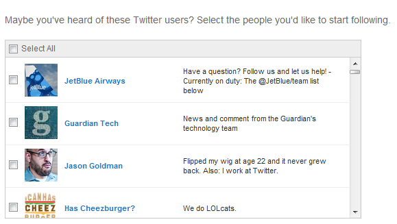Twitter Suggested User List to Be More Programmatically Chosen